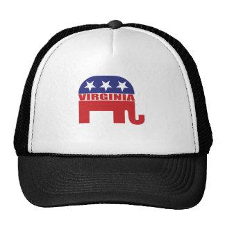 Virginia Republican Elephant Mesh Hat
