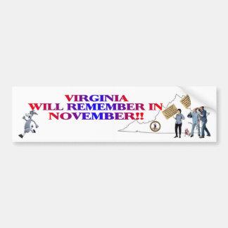 Virginia - Return Congress To The People!! Bumper Sticker