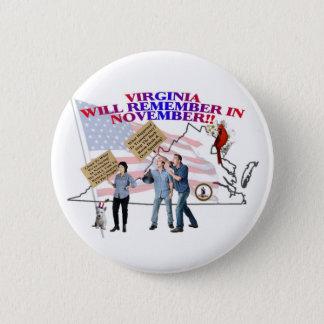 Virginia - Return Congress to the People! Pinback Button