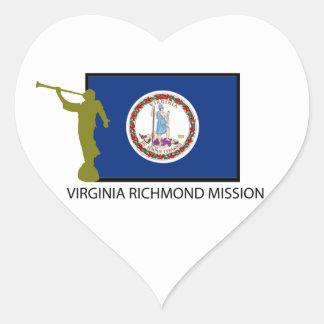 VIRGINIA RICHMOND MISSION LDS CTR HEART STICKER