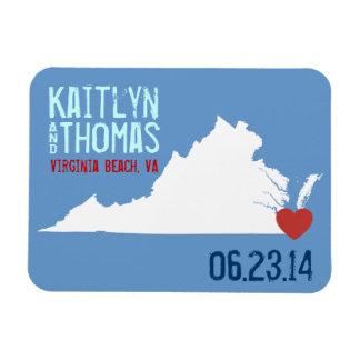 Virginia Save the Date - Customizable City Magnet