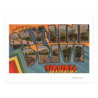 Virginia - Sky-Line Drive - Large Letter Postcard