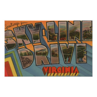 Virginia - Sky-Line Drive - Large Letter Posters