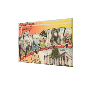 Virginia (State Capital/Flower) Stretched Canvas Prints
