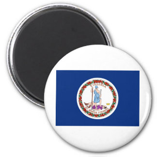 Virginia State Flag 2 Inch Round Magnet