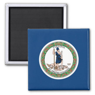 Virginia State Flag 2 Inch Square Magnet