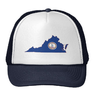 Virginia State Flag and Map Trucker Hat