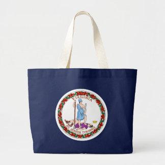 Virginia State Flag blue bag