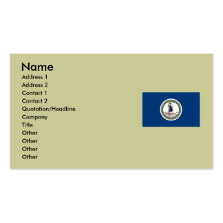 Virginia State Flag Business Card