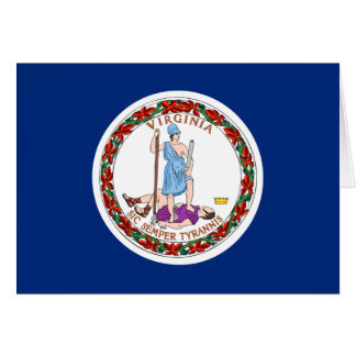 Virginia State Flag Card
