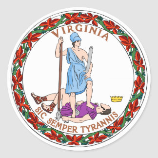 Virginia State Flag Classic Round Sticker
