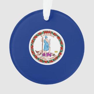 Virginia State Flag Design Ornament