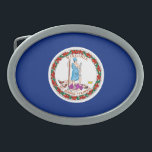 """Virginia State Flag Design Oval Belt Buckle<br><div class=""""desc"""">Here&#39;s a Virginia State Flag Design presented on a variety of popular products. A great custom gift idea for all occasions and for anyone coming for a visit.                       Introducing</div>"""
