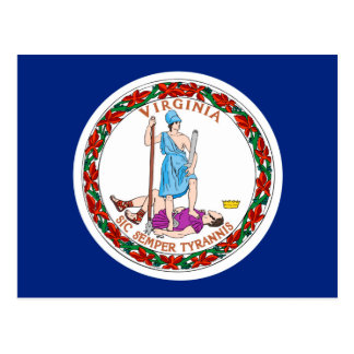 Virginia State Flag Design Postcard