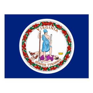 Virginia State Flag Design Postcard