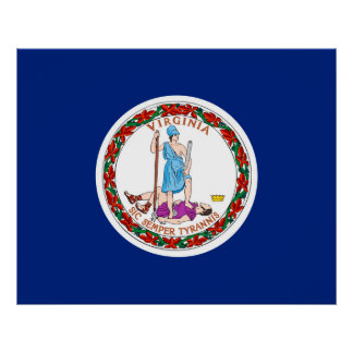 Virginia State Flag Design Poster