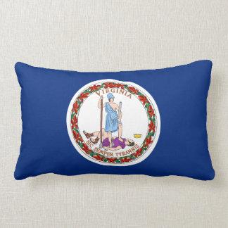 Virginia State Flag Lumbar Pillow