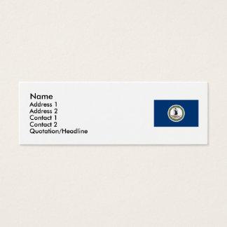 Virginia State Flag Mini Business Card