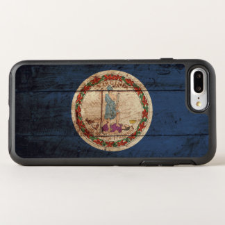 Virginia State Flag on Old Wood Grain OtterBox Symmetry iPhone 7 Plus Case