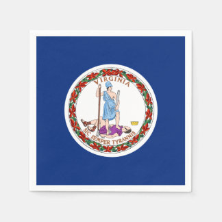 Virginia State Flag Paper Napkin