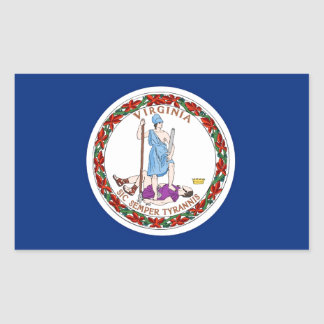 Virginia State Flag Stickers