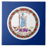 """Virginia State Flag Tile<br><div class=""""desc"""">Elegant Tile with Flag of Virginia State. United States of America. This product its customizable.</div>"""
