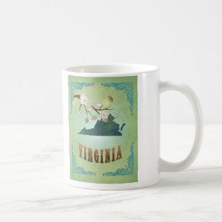 Virginia State Map – Green Classic White Coffee Mug