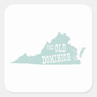 Virginia State Motto Slogan Square Sticker