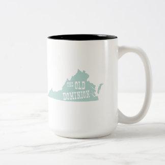 Virginia State Motto Slogan Two-Tone Coffee Mug