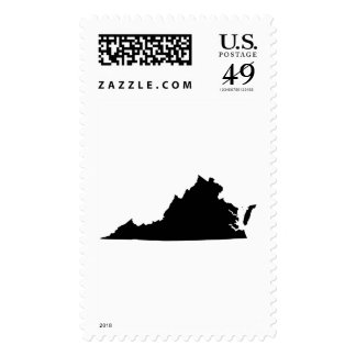 Virginia State Outline Stamps