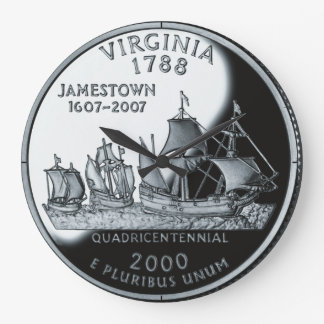 Virginia State Quarter Clock