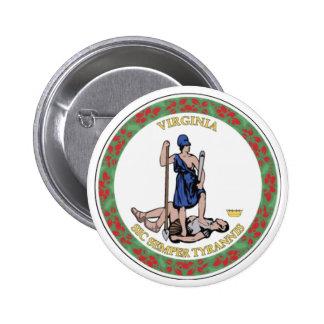 Virginia State Seal Button