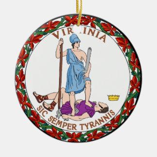 Virginia State Seal Ceramic Ornament