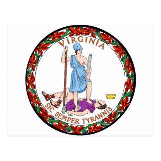 Virginia state seal.jpg postcard