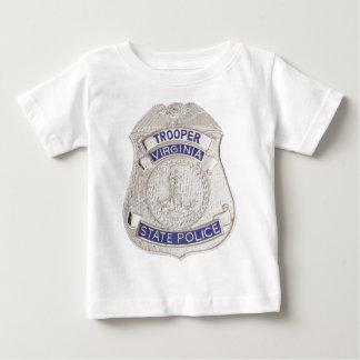 Virginia State Trooper Police Badge Baby T-Shirt