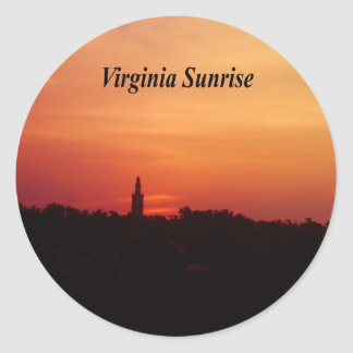 Virginia Sunrise Classic Round Sticker
