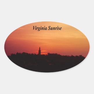 Virginia Sunrise Oval Sticker