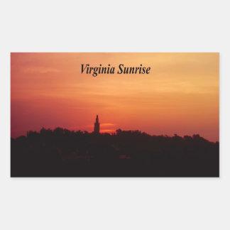 Virginia Sunrise Rectangular Sticker