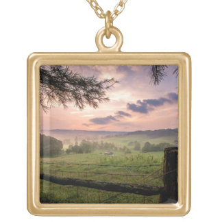 Virginia Sunset Gold Plated Necklace