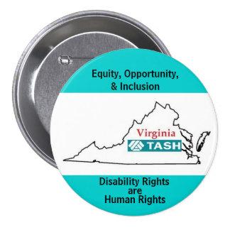 Virginia TASH Pinback Button