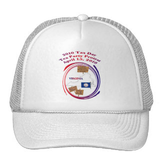 Virginia Tax Day Tea Party Protest Mesh Hat