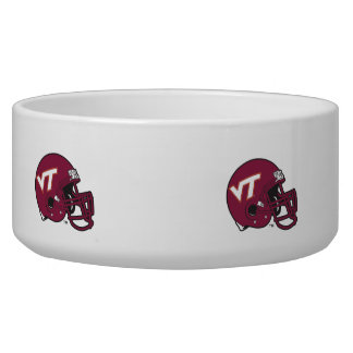 Virginia Tech Helmet Dog Water Bowl