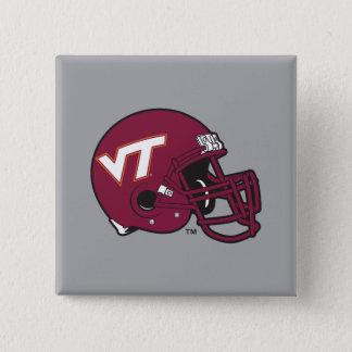 Virginia Tech Helmet Pinback Button