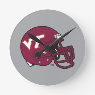 Virginia Tech Helmet Round Clock
