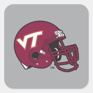 Virginia Tech Helmet Square Sticker
