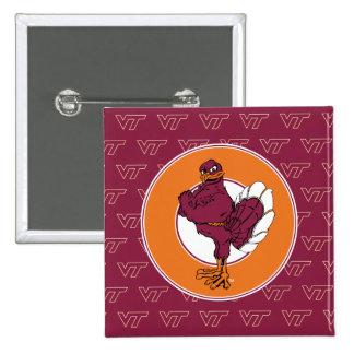 Virginia Tech Hokie Bird Button