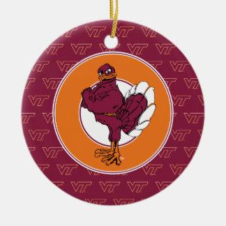 Virginia Tech Hokie Bird Ceramic Ornament