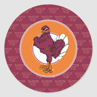 Virginia Tech Hokie Bird Classic Round Sticker