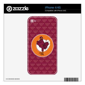 Virginia Tech Hokie Bird Decals For The iPhone 4S