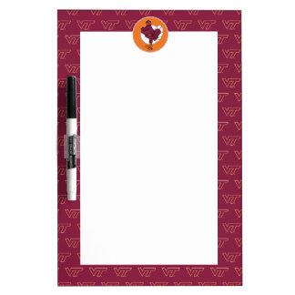 Virginia Tech Hokie Bird Dry Erase Board